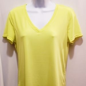 Danskin Now Hi Low Yellow Tee - Size M
